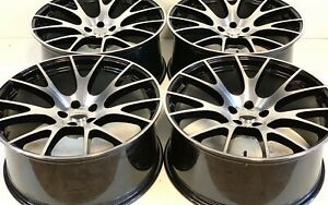 22 Inch Dodge Chrysl Srt Hellcat Style Wheels Tires Tpms Gloss Black Rims
