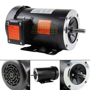 1 5 Hp Electric Motor 3 Phase 56c Frame 1800 Rpm Tefc 230 460 Volt New