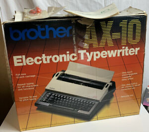 Brother Ax 10 Vintage Electronic Portable Typewriter Excellent Tested And Works