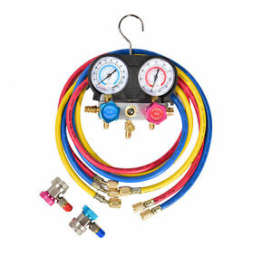 Us Ship R407c R134a R404 A C Diagnostic Manifold Gauge Set For Refrigerant