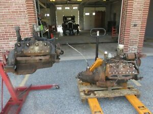 Ford Flathead V8 Engine Two Floor Shift Transmission One Engine Stand One