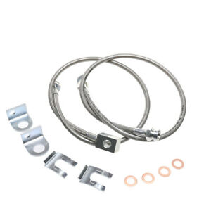 For Wrangler Jeep Yj Tj Xj Stainless Steel Braided Front Brake Hoses Line 26