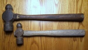 2 Vintage Wood Handle Hammer s J c f Other Tool Auto Body