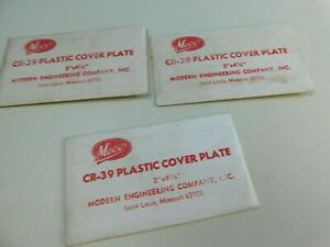3 Vintage Meco Clear Cover Plate Plastic Cr 39 Plastic