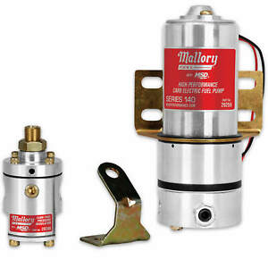 Mallory High Pressure Electric Fuel Pump Model 140 W Mounting Hardware 4 12 Psi