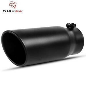 Yitamotor Diesel Exhaust Tip 4 Inlet 5 Outlet 12 long Stainless Steel Tailpipe