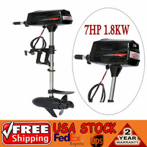 upgrade 48v 7hp Outboard Motor Electric Brushless Fishing Boat Engine 1 8kw