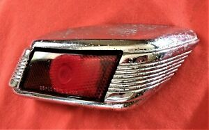 1941 Lincoln Zephyr Tail Light Housing Bezel And Lens Complete Pass Side