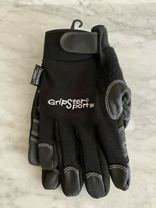 New Gripster Sport Insulated Thinsulate Leather Work Mechanic Gloves Size Xl