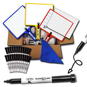 Customizable Whiteboards Handheld Clear Dry Erase Durable Multicolor Set Of 24
