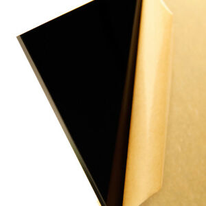 1 8 3 Mm Solid Black Cast Acrylic 8 x12 Plexiglass Sheet Plastic Azm