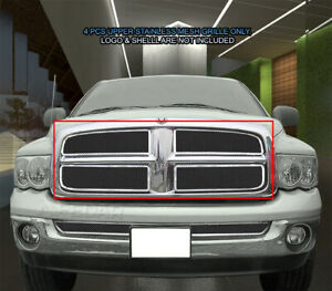 Mesh Grille Front Grill For Dodge Ram 1500 2500 3500 2002 2003 2004 2005