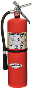 Amerex B456 Abc Dry Chemical Fire Extinguisher With Aluminum Valve 10 Lb