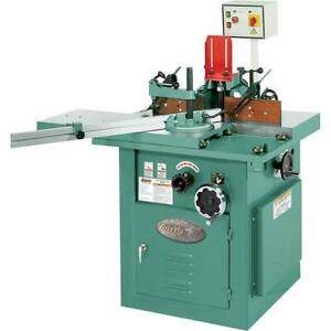 Grizzly G8622 5 Hp Sliding Table Shaper With Tilting Spindle