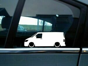 X2 Lowered Car Silhouette Stickers For Volkswagen Vw T6 Van Transporter