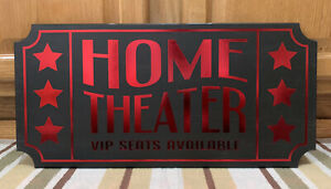 Home Theater Tv Movie Room Cinema Coke Candy Wall Decor Vip Seats Poster Game