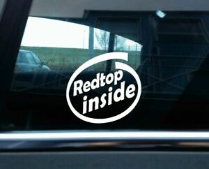 2x Redtop Inside Stickers For Opel Astra Kadett Vectra 16v Gsi C20xe Gte