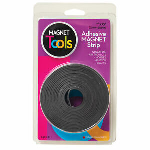 Adhesive Magnet Strip Durable Heavy Duty Stick Designing Coloring 1in X 10ft