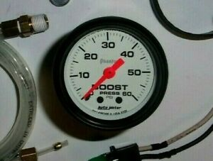 Autometer 5705 Phantom 2 1 16 Mechanical Boost Gauge 60 Psi Turbo Diesel Blower
