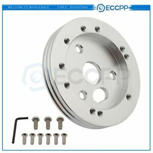 5 Polished Hub 5 Or 6 Hole Steering Wheel For Grant Nrg To 3 Hole Adapter