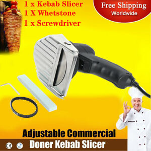 80w 110v Electric Shawarma Cutter Slicer Gyro Knife Doner Knife Kebab New