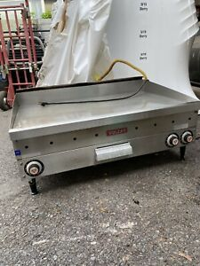 Vulcan 36 Natural Gas Flat Top Grill Griddle Commercial Stainless Natural Gas