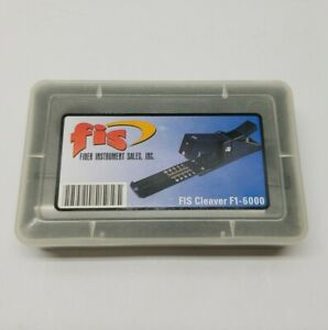 Fis F1 6000 Fiber Optic Cleaver Precision Tool Blade f160cbl With Case