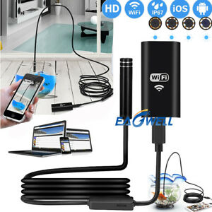 8led Wireless Endoscope Wifi Borescope Inspection Camera For Iphone Android Ios