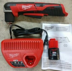 Milwaukee M12 3 8 Right Angle Drill Kit W Battery Charger Model 2415 20
