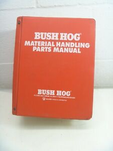 Bush Hog Parts Manuals Loader Splitter Digger Dealer Material Handling