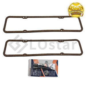 Sbc Rubber Valve Cover Gaskets For Sb Chevy 283 305 327 350 383 400 7484box