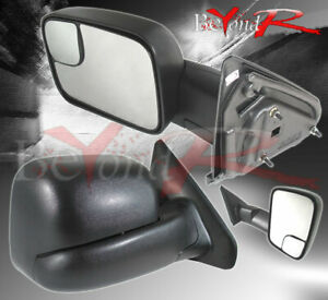 02 09 Dodge Ram 1500 2500 3500 Pickup Pair Side Extendible Manual Towing Mirrors