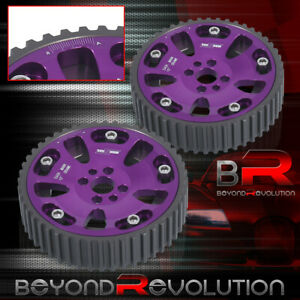 Purple Anodized Adjustable Engine Motor Cam Gears For Gt r Rb20 Rb25 Rb26