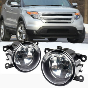 For Ford Explorer 2011 2015 Clear Lens Pair Bumper Fog Light Lamp Oe Replacement