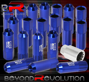 For Acura 12x1 5mm Locking Lug Nuts Track Extended Open 20 Pieces Unit Key Blue