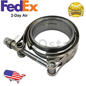 2 5 Inch V band Clamp Flanges Kit Mild Steel Downpipe Intercooler Turbo Pipe