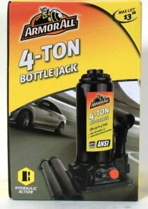 1 Count Armorall Lifts Up To 4 Ton Max Lift 13 Bottle Jack Hydraulic Action