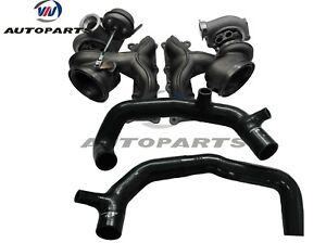 Upgraded Td04 17t Billet Twin Turbocharger 2 Inlet Pipes For 335i Lhd 3 0l N54