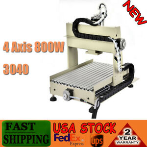 4 Axis 800wcnc 3040 Router 3d Engraver Pcb Drill Hard Wood Milling Machine