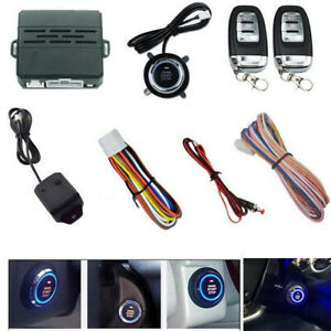 12v Car Ignition Switch Remote Engine Start Push Button Keyless Entry Starter