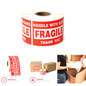 Fragile 2 x3 Handle With Care Shipping Stickers 500 Labels Per Roll 1 Pack