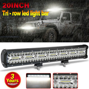 20inch 600w Led Light Bar Work Flood Spot Beam Driving Offroad 4wd Truck Fog Suv