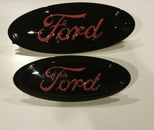 2017 19 Ford Escape Custom Painted Black Pink Logo Emblem Set
