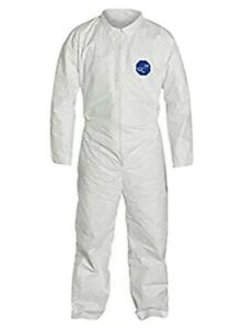 Dupont Tyvek 400 Ty120s Coverall Suits W collar Zipper Bunny Suit Sz Xl