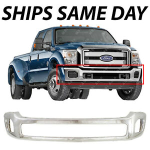 New Chrome Steel Front Bumper Face Bar For 2011 2016 Ford F 450 F 550 Super Duty