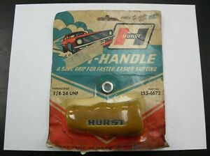 Vintage Hurst Performance Hurst Gold Fuzzy T handle Shifter 153 4672 Nos