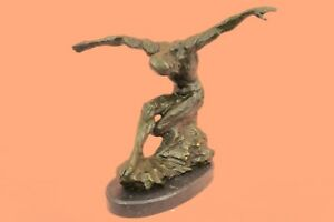 Handcrafted Bronze Sculpture Sale Man Hotcast Pure Abstract Large Beautiful