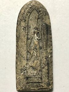 Phra Leela Lp Boon Rare Old Thai Buddha Amulet Pendant Magic Ancient Idol 51