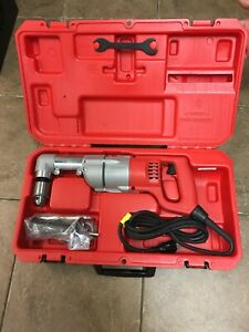 Milwaukee 1107 1 1 2 Inch Right Angle Drill W case