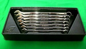 Snap On Oexm707b 7pc Metric Flank Drive Combination Wrench Set 10 15mm 17mm